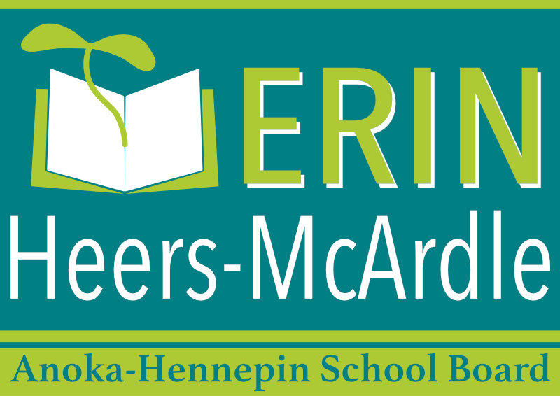 The yard sign graphic for Erin Heers-McArdle